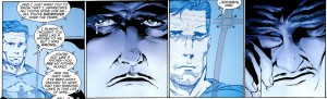 Bruce Wayne says good-bye to the only father he has ever known