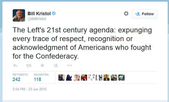 Bill Kristol Called for support for Insurrectionists against America.  That's one step away from supporting ISIS!